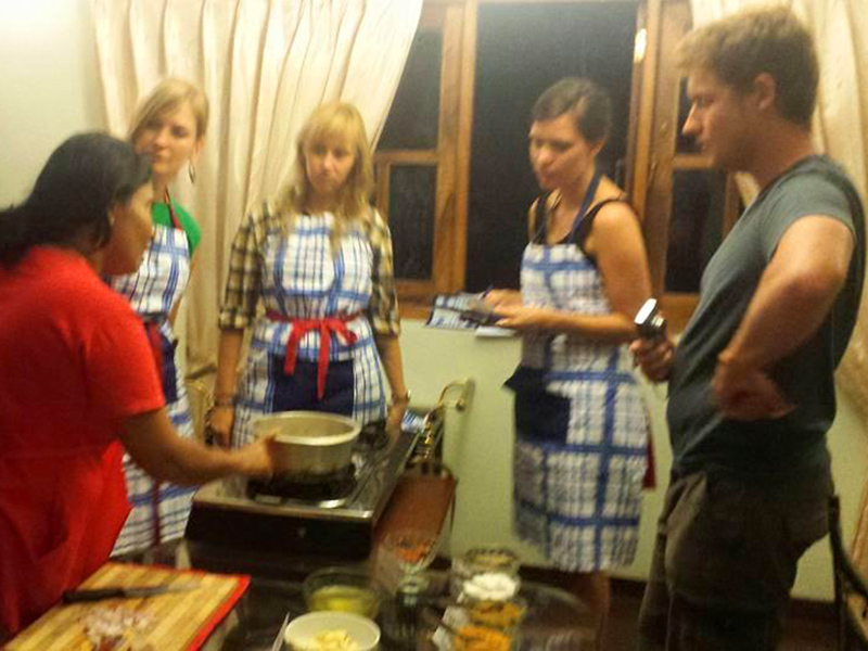 learn how to cook a traditional Sri Lankan dinner and of course enjoy it.