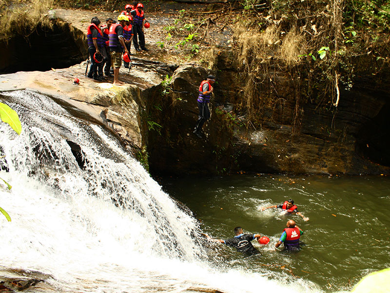 Stream slides & Confidence Jumps in Kitulgala