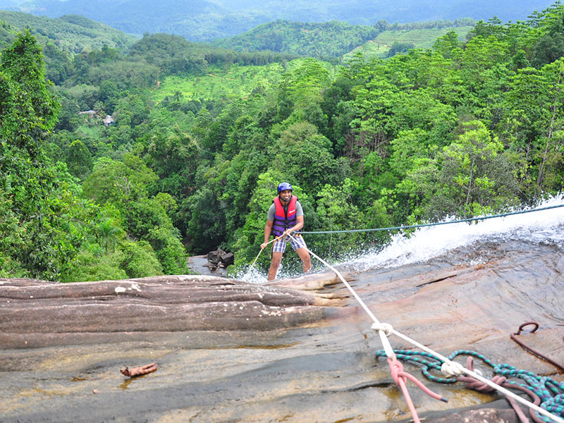 Waterfall Abseiling in Kitulgala