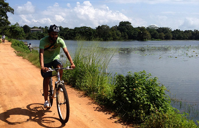 Cycling through the villages in Sigiriya, Habarana