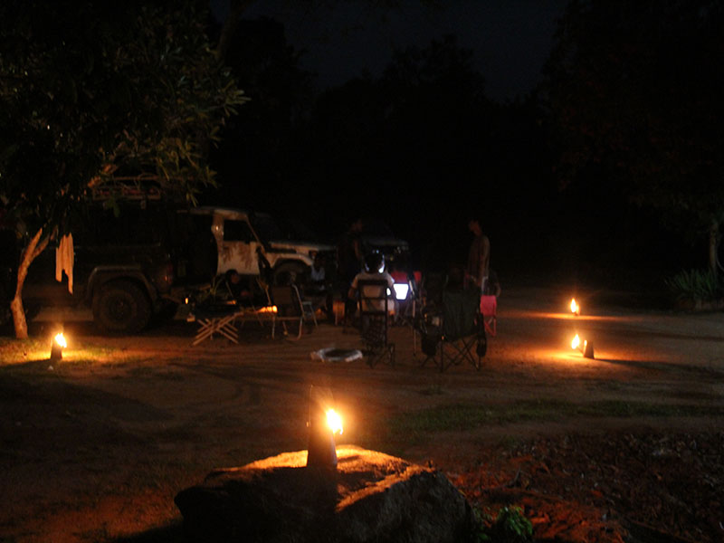 BBQ dinner and overnight stay at the jungle camp