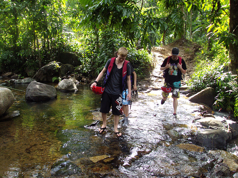 taking part in nature and adventure activities such as Rain forest walk in Kitulgala